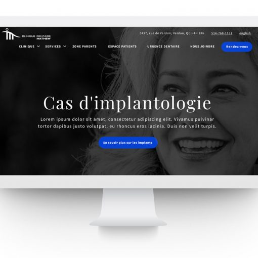 Site clinique dentaire Mathew